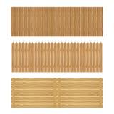 Barrière en bois sur un fond blanc Photo libre de droits