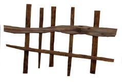 Barrière en osier de dessin, des feuilles sèches de chute des usines et de la branche Photos libres de droits