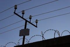 Barrière et fil Images libres de droits