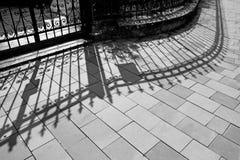 Barrière et ombre Image libre de droits
