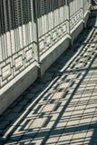 Barrière et ombre de fer Photographie stock libre de droits