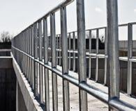 Barrière galvanisée image libre de droits
