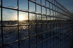 Barrière glaciale de fer Image stock