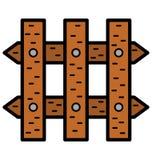 Barrière Isolated Vector Icon qui peut être facilement modifiée ou éditée illustration libre de droits