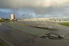 Barrière Maeslant de saut de pression de tempête Photographie stock