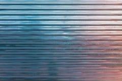Barrière ondulée brillante colorée en métal image stock