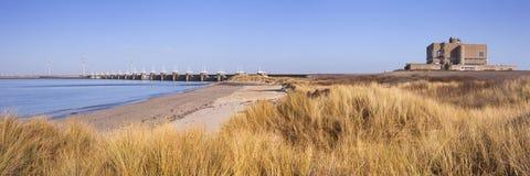 Barrière orientale d'Escaut chez Neeltje Jans aux Pays-Bas photographie stock libre de droits