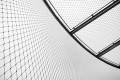 Barrière ronde et plafond en acier de maillon de chaîne, limités Photo stock