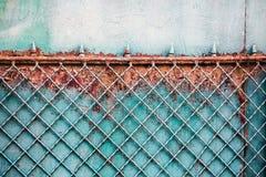 Barrière rouillée en métal photos libres de droits