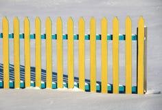 Barrière sur la neige Image libre de droits