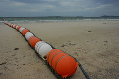 Barrière sur la plage Photo libre de droits