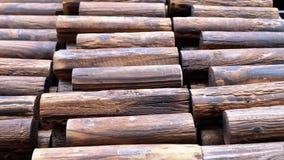 Barrière TU prêt en bois utilisée Image libre de droits
