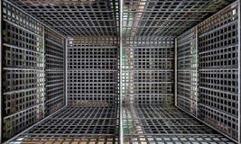 Barrière Urban Interior Stage en métal Photos libres de droits