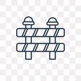 Barrière vectordiepictogram op transparante achtergrond, lineaire B wordt geïsoleerd royalty-vrije illustratie