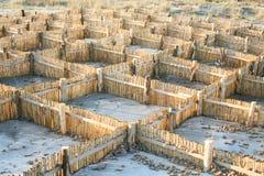 Barrière voor zand Royalty-vrije Stock Afbeelding