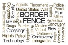 Barrière Word Cloud de frontière Images libres de droits