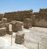 Barrièremuur in de vesting Masada Royalty-vrije Stock Afbeelding