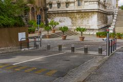 Barrières automatiques de route de Rome, Italie photo libre de droits