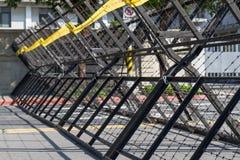 Barrières d'émeute Photographie stock