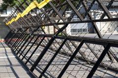 Barrières d'émeute Image stock