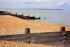 Barrières de plage chez Tenderton images stock
