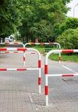 Barrières de rue Photos libres de droits