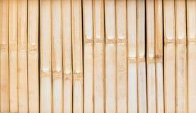 Barrières en bambou dans les zones rurales image stock