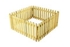 Barrières en bois pour des animaux familiers sur d'isolement photo stock