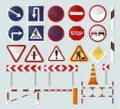 Barrières et signes de route