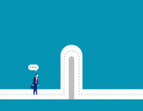 barrières Homme d'affaires avec des barrières de coupure Image libre de droits