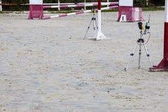 Barrières infrarouges de dispositifs avant obstacle au compe sautant de cheval image libre de droits