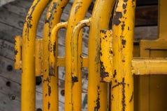 Barrières jaunes photo stock