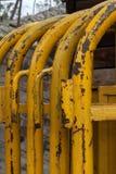 Barrières jaunes image stock