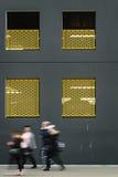 Barrières jaunes Photographie stock