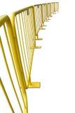 Barrières piétonnières jaunes images stock
