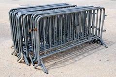 Barrières pour le contrôle de foule Photo stock