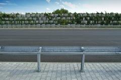 Barrières sur la route Photographie stock