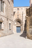 The Barri Gòtic, the gothic quarter in Barcelona Stock Photography