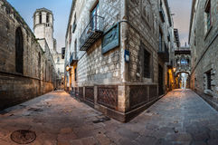 Free Barri Gothic Quarter And Bridge Of Sighs In Barcelona, Catalonia Royalty Free Stock Images - 47730639
