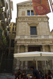 Barri Gotic in the center of Barcelona Royalty Free Stock Images