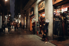 Barri Gotic Gothic Quarter Barcellona Immagine Stock Libera da Diritti