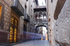Barri Gotic-kwart van Barcelona, Spanje stock foto