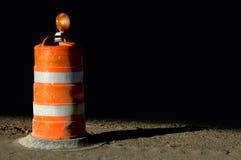 Barricada anaranjada Imagenes de archivo