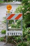 Barricada da rua Fotografia de Stock