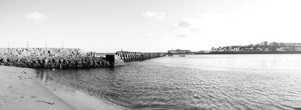 Barricada del río Fotografía de archivo