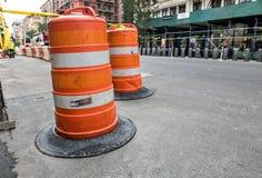 Barricada do tráfego Imagens de Stock Royalty Free