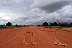 Barricada en África Imágenes de archivo libres de regalías