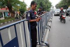 barricadas imagen de archivo