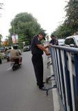 barricadas foto de archivo