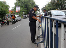 barricadas fotos de archivo libres de regalías